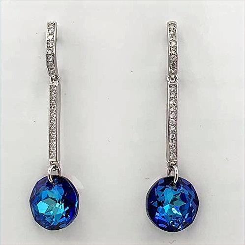 Sterling Silver Cz and Swarovski Crystal