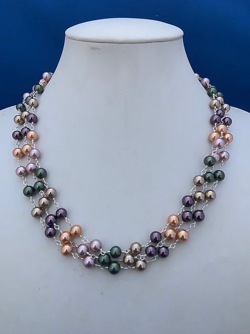 Glass beads with coated silver