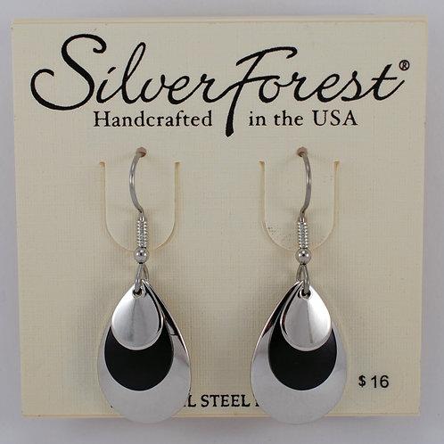 Silver Forest Triple Layer Earrings