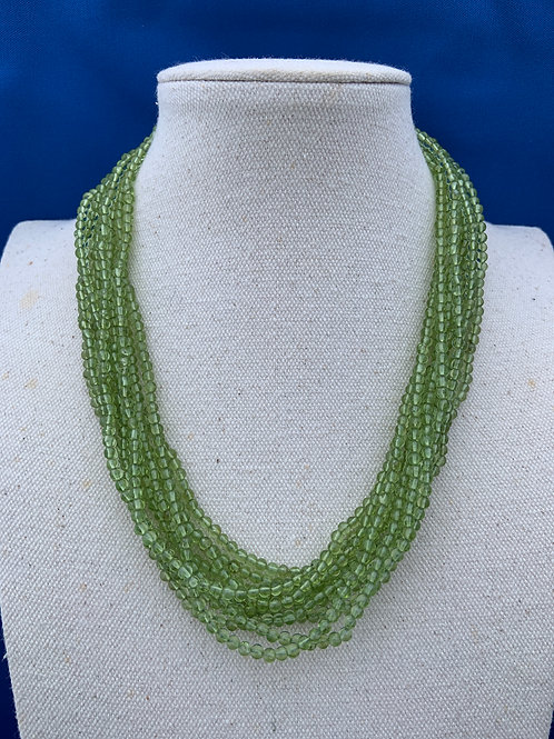 Peridot with Sterling Silver.