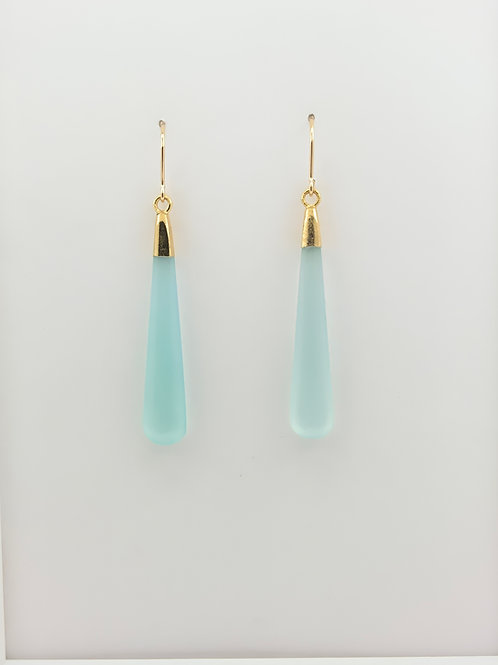 Chrysoprase Vermeil set w/14K G/F Ear-wire