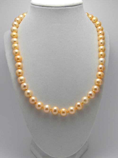 Golden Fresh Water Pearl Necklace