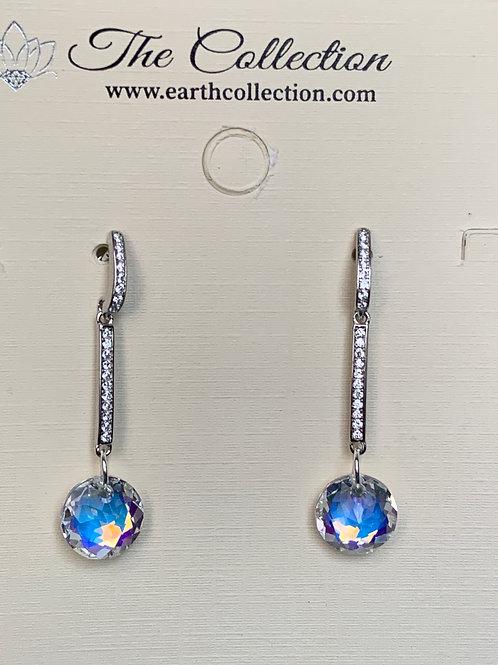 Swarovski Crystals on Sterling Silver/CZ post.