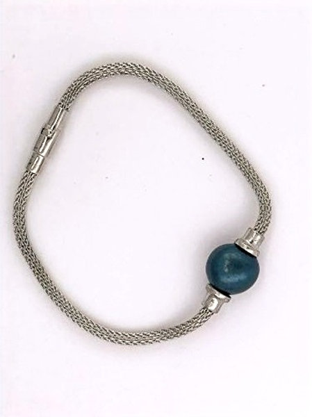 Midnight Green Shell Pearl & Sterling Silver
