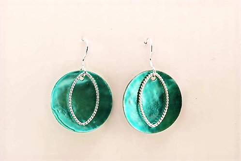 Shell and Sterling Silver Earring
