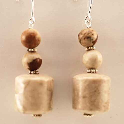 Riverstone and Picture Jasper with Sterling Silver