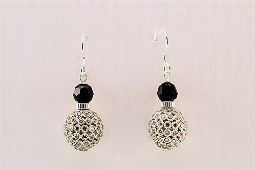 Cubic Zircon balls on Sterling Silver