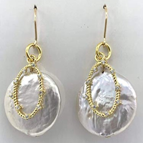 Lustrous Coin Pearls with Vermeil and 14K G/F