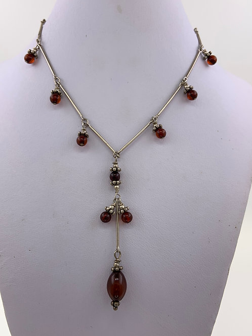 Garnets wrapped on Sterling Silver Chain