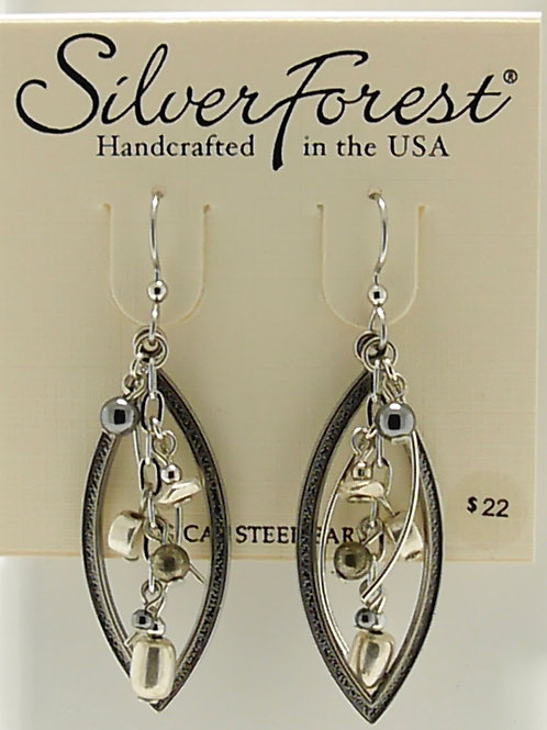 Silver Forest Chrome Earrings