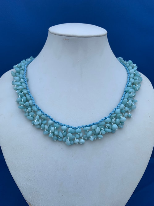 Amazonite chips on woven cord