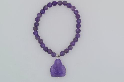 Amethyst Budha Bracelet