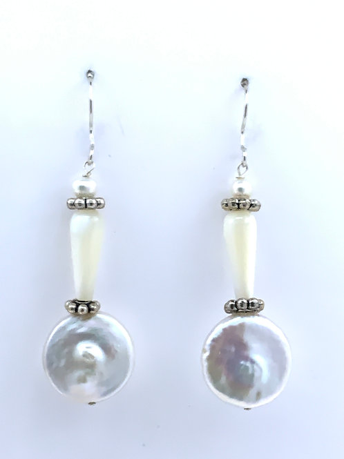 Freshwater pearl w/Mother of Pearl on Sterling Silver