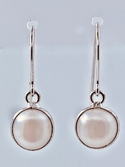 Sterling Silver channel set Freshwater Pearl