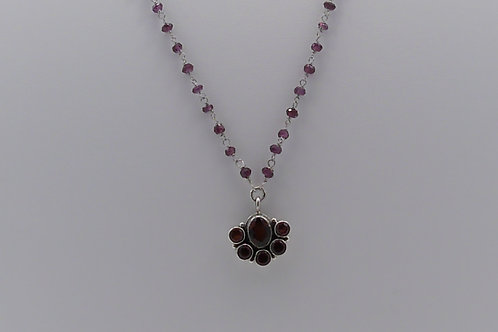 Vintage Faceted Garnet Necklace