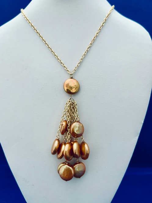 Cultured Freshwater Pearls on Vermeil