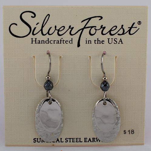 Silver Forest Double Layer Earrings