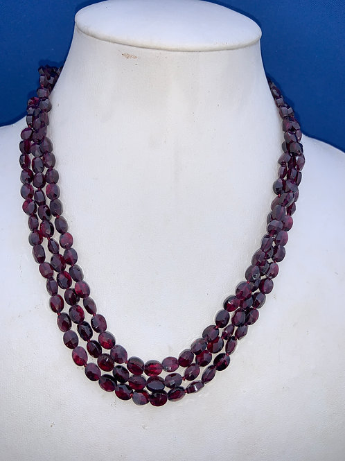 Faceted Pyrope Garnets with Sterling Silver