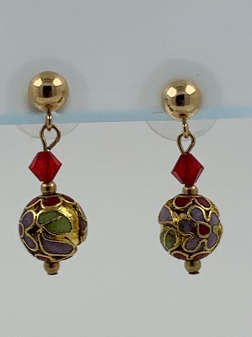 Cloisonne and Swarovski Crystal