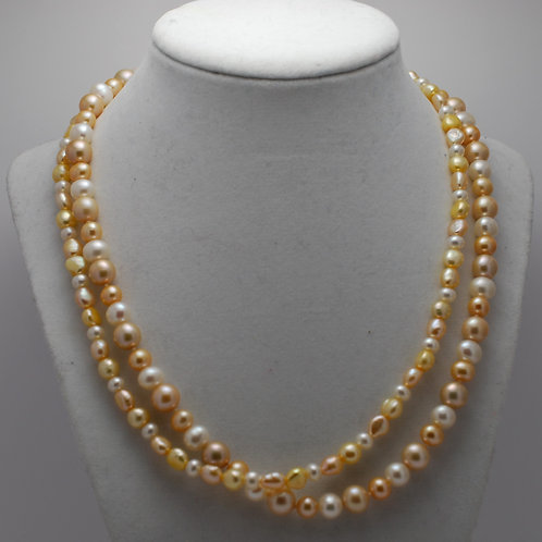 2-Strand Combination Pearl Necklace