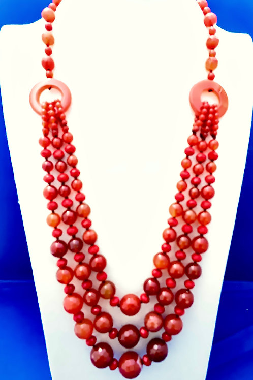 Faceted Carnelian and Crystals