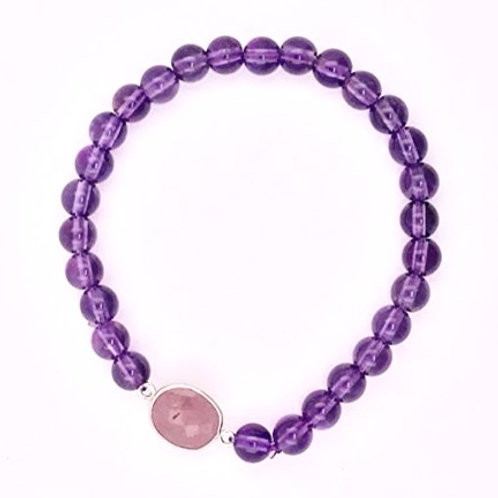 Amethyst with Ruby Bracelet