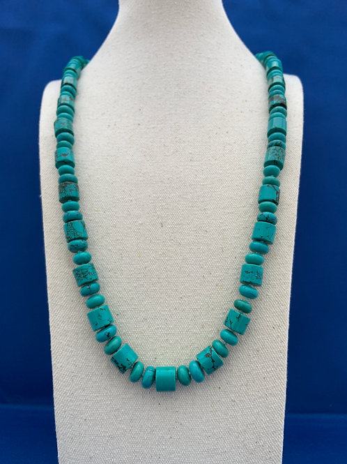 Handknotted Turquoise Necklace