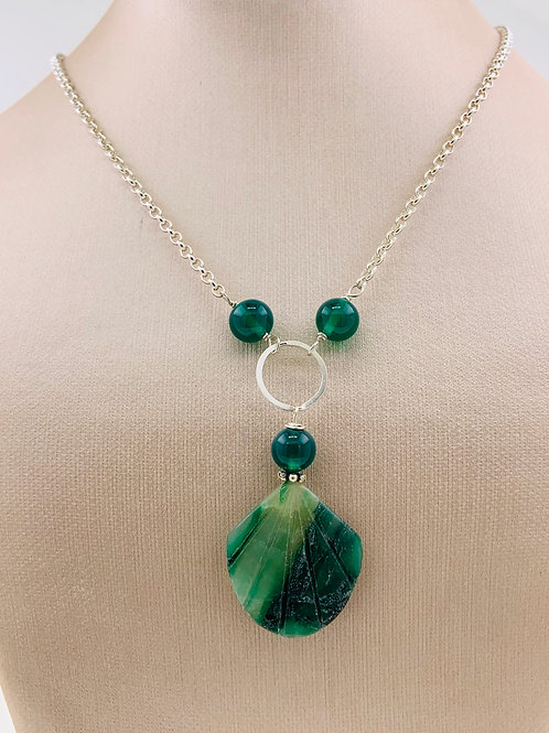 Green Onyx and Jasper on Sterling Silver