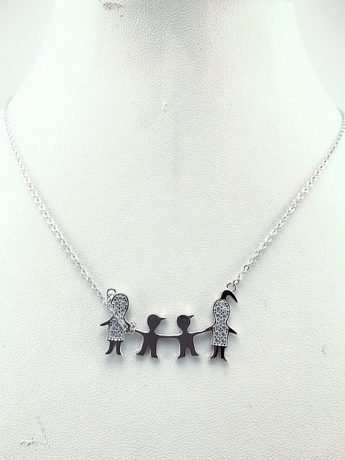 Sterling Silver Family Necklace