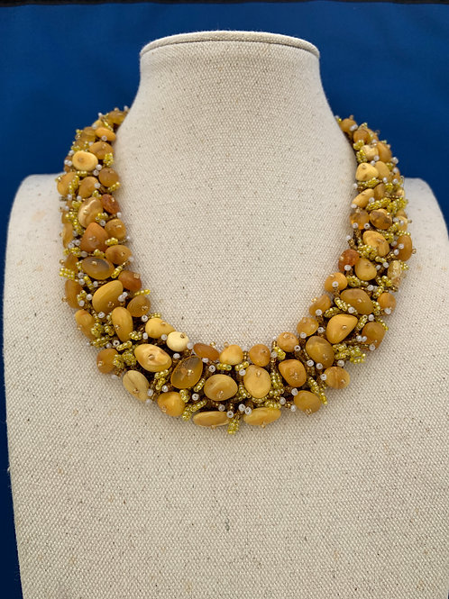 Woven Amber Necklace