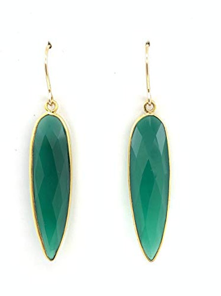 Lustrous Green Onyx w/Vermeil and 14K G/F