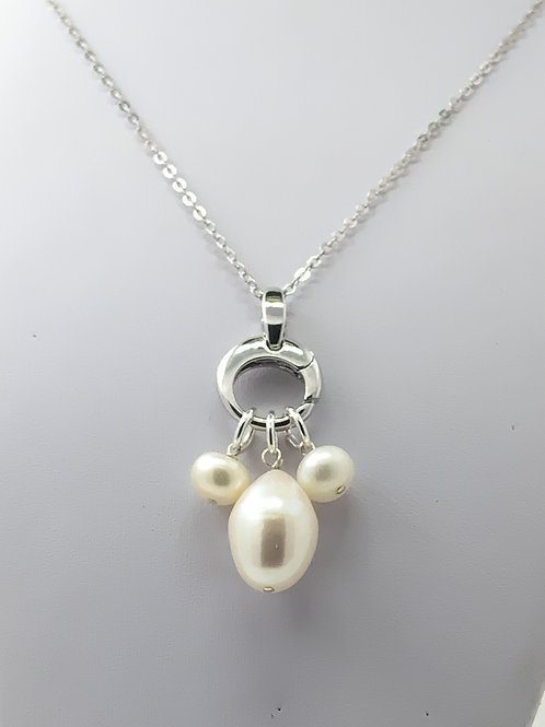 Freshwater Pearl on Sterling Silver