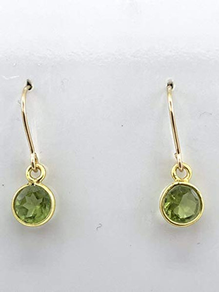 Faceted Peridot w/Vermeil and 14K GF