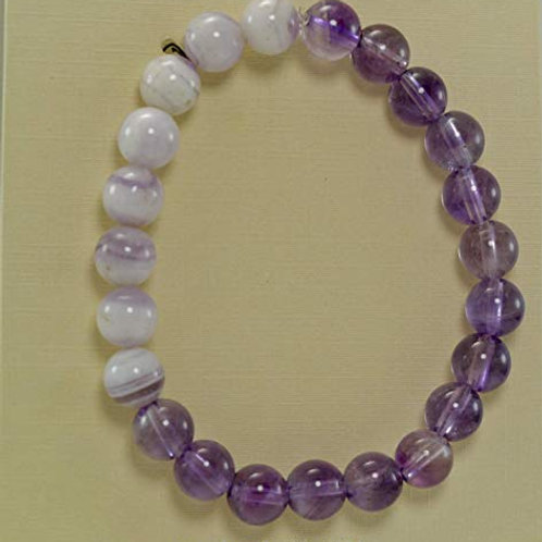 Amythest bead bracelet