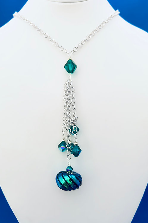 Venitian and Swarovski crystals on Sterling Silver