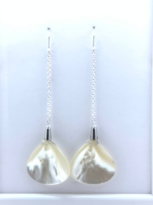 Dangling Shell Pearl on Sterling Silver