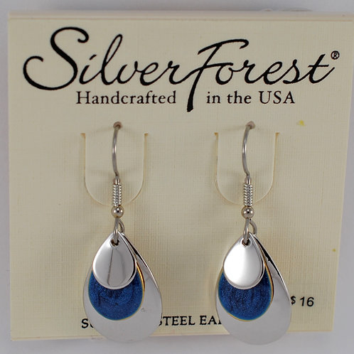 Silver Forest Triple Layer Earrings