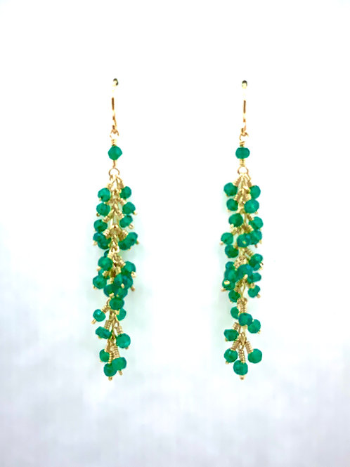 Faceted Green Onyx on 14K G/F