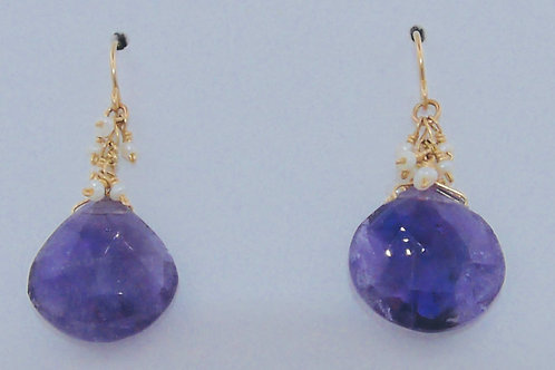 Pear Shape Amethyst Earrings