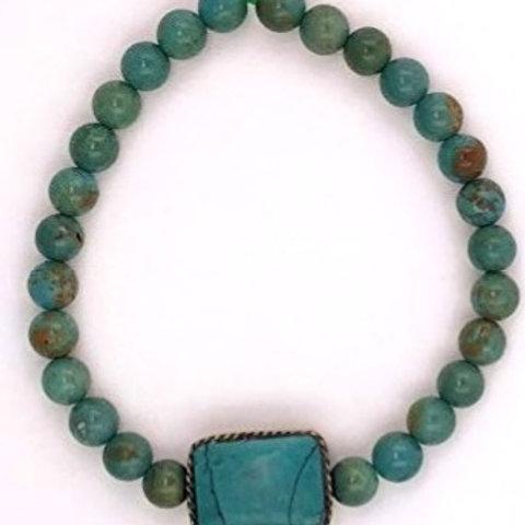 Chrysocolla and Turquoise Bracelet