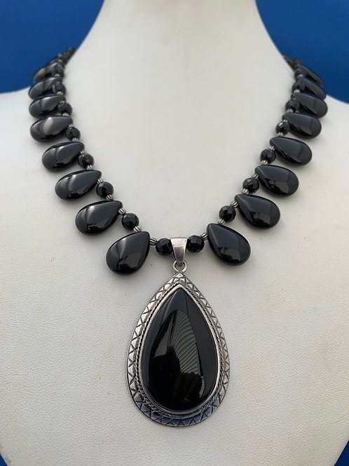 Black Onyx on Sterling Silver
