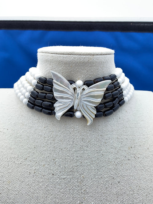 Mother of Pearl Butterfly on Coral