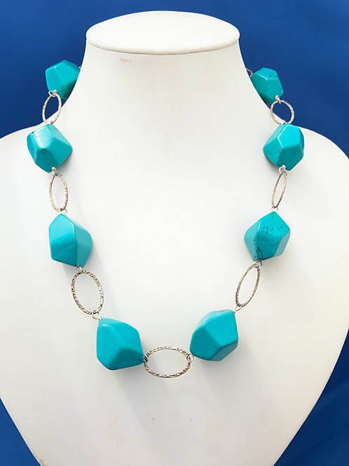 Turquoise Swirls on Sterling Silver