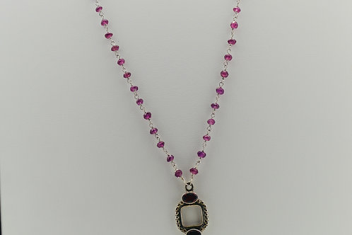 Garnet & Moonstone Necklace