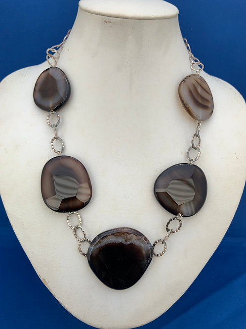 Banded Agate on Sterling Silver