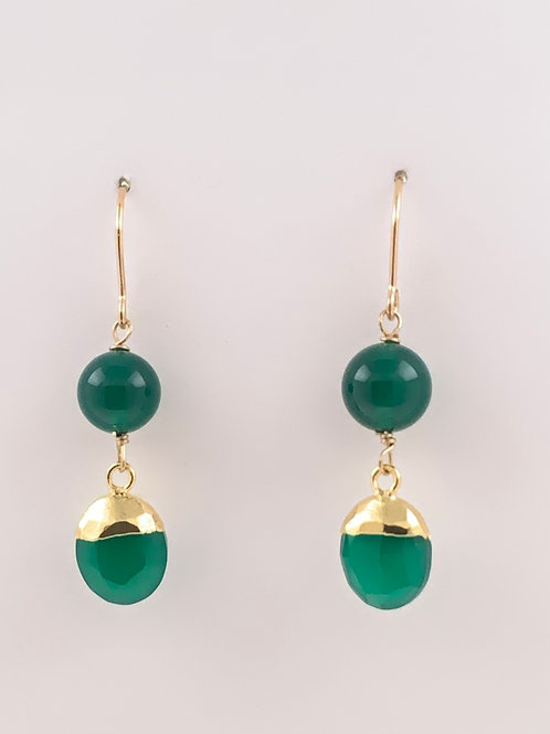 Chrysoprase and Green Onyx on 14K G/F
