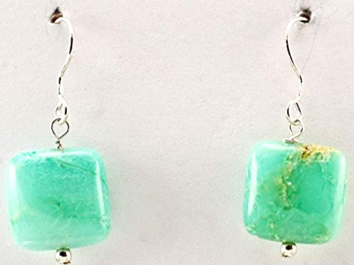Chrysoprase square in Sterling Silver