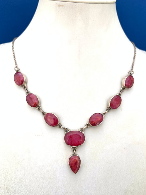 Rubies on Sterling Silver