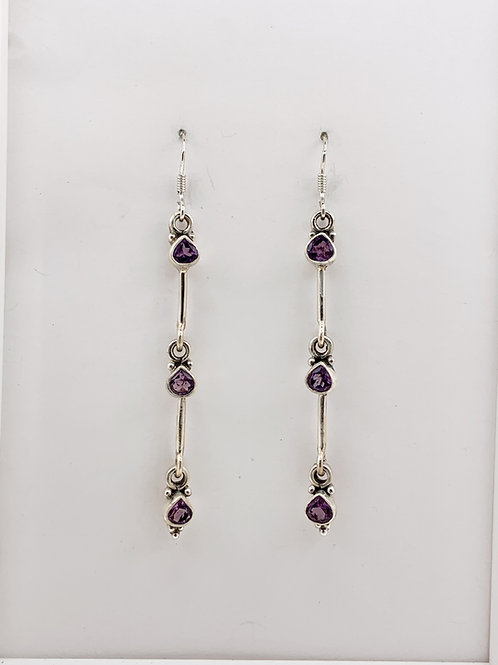 Amethyst teardrops on Sterling Silver