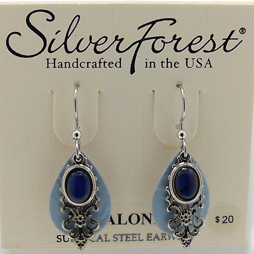 Silver Forest Abalone Layered Earrings